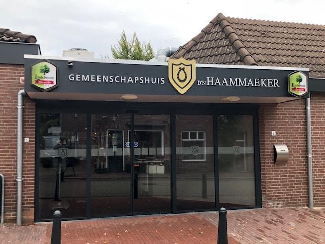 banner hoofdingang d'n haammaeker